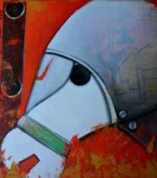 Anupam Pal | Acrylic Painting title Honouring the Horse on Canvas | Artist Anupam Pal Gallery | ArtZolo.com