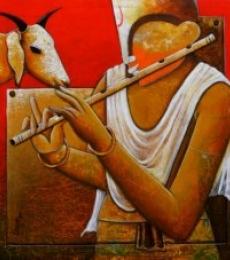 Companion | Painting by artist Anupam Pal | acrylic | Canvas