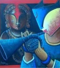 Rhytam devine 17 | Painting by artist Anupam Pal | acrylic | Canvas