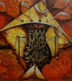 Anupam Pal | Acrylic Painting title Untiteld 1 on Canvas | Artist Anupam Pal Gallery | ArtZolo.com