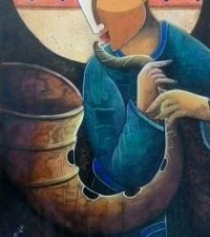Rhythm Divine 31 | Painting by artist Anupam Pal | acrylic | Canvas