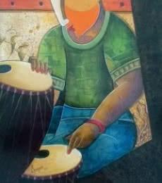 Rhythm Divine 34 | Painting by artist Anupam Pal | acrylic | Canvas