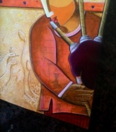 Anupam Pal | Acrylic Painting title Rhythm Divine 35 on Canvas | Artist Anupam Pal Gallery | ArtZolo.com