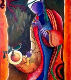 Anupam Pal | Acrylic Painting title Rathym Divineby Anupam Pal on Canvas | Artist Anupam Pal Gallery | ArtZolo.com