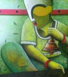 Rhytham Devine 26   Painting by artist Anupam Pal   acrylic   Canvas