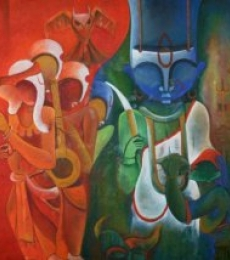 The Invincible 2 | Painting by artist Anupam Pal | acrylic | Canvas