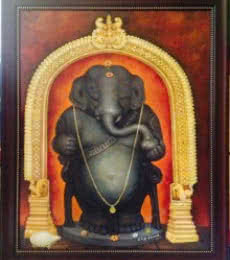 Idagunji Ganapati | Painting by artist B S B Goudar | oil | Canvas