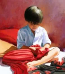 Scarves | Painting by artist Jose Higuera | oil | Canvas