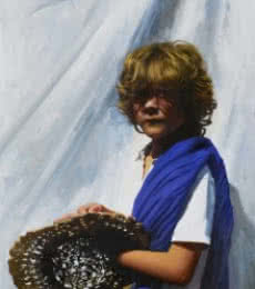 El vendedor de sombreros | Painting by artist Jose Higuera | oil | Canvas