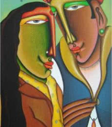 Desire 1 | Mixed_media by artist Jyoti Hatarki | Canvas Board
