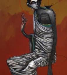 Buddha 1 | Painting by artist Sanjay Sable | acrylic | Canvas