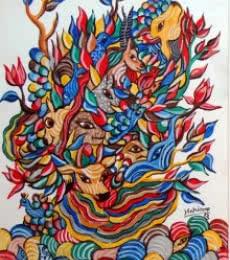 Srajan | Painting by artist Hariom Kuthwaria | watercolor | Paper