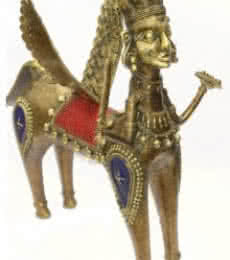 Flying Horse | Craft by artist Bhansali Art | Brass