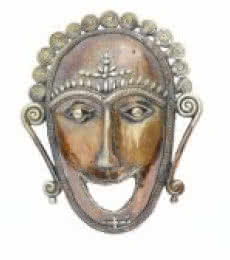 Mask | Craft by artist Bhansali Art | Brass