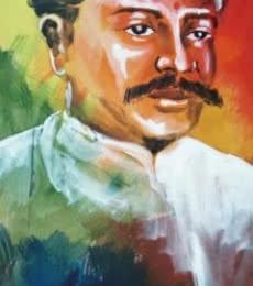 Figurative Acrylic Art Painting title 'Portrait' by artist Vignesh Kumar