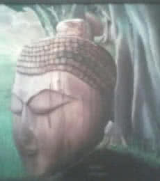 Religious Oil Art Painting title 'Buddha' by artist Seema Jain