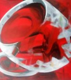 The Red Tea | Painting by artist Jyotirmoy Bhuyan | acrylic | Canvas