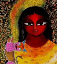 Basanti VIII | Painting by artist Meenakshi Jha Banerjee | acrylic | Canvas