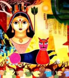 Untitled III | Painting by artist Meenakshi Jha Banerjee | acrylic | Canvas