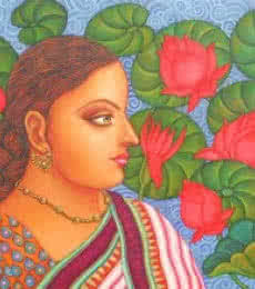 Abhisarika I | Painting by artist Suparna Dey | oil | Canvas