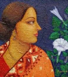 Charulata II   Painting by artist Suparna Dey   oil   Canvas