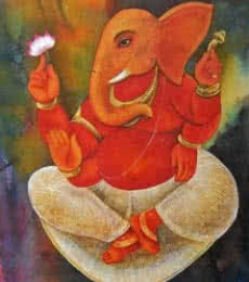 Lord Ganesha | Painting by artist Suparna Dey | tempera | Paper