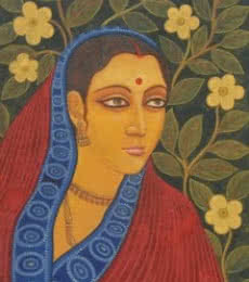 Figurative Tempera Art Painting title Lramani II by artist Suparna Dey