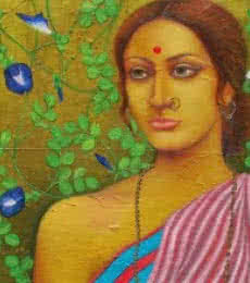 Megh Balika | Painting by artist Suparna Dey | oil | Canvas