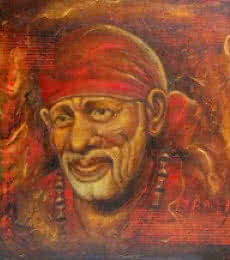 Sai Baba III | Painting by artist Anurag Swami | oil | Canvas