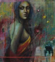 Harisadhan Dey | Acrylic Painting title Journey Of Life on Canvas | Artist Harisadhan Dey Gallery | ArtZolo.com