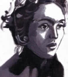 Bollywood actor Nutan  | Painting by artist Saurabh Turakhia | oil | Paper