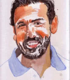 Portrait Watercolor Art Painting title My smile is my style by artist Saurabh Turakhia