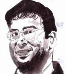 Viswanathan Anand is a Chess Champion | Painting by artist Saurabh Turakhia | watercolor | Paper