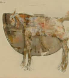 The Wild Goat 2 | Painting by artist Ajay Deshpande | oil | Canvas