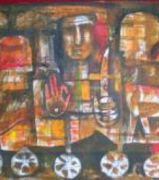 Destination | Painting by artist Ranjith Raghupathy | acrylic | CardBoard