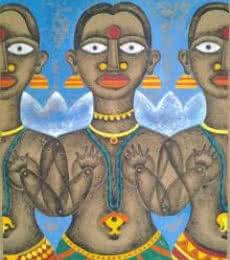 Figurative Acrylic Art Painting title 'Winter' by artist Ranjith Raghupathy