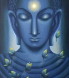 Meditating Buddha I | Painting by artist Madhumita Bhattacharya | oil | Canvas