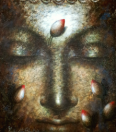 Dhyan Buddha | Painting by artist Madhumita Bhattacharya | acrylic | Canvas