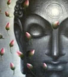 Madhumita Bhattacharya | Oil Painting title Divya Jyoti Buddha on Canvas | Artist Madhumita Bhattacharya Gallery | ArtZolo.com