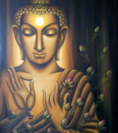 Buddha - Divine Soul | Painting by artist Madhumita Bhattacharya | oil | Canvas