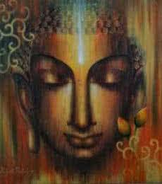 Religious Acrylic Art Painting title 'Buddha Divyagyan' by artist Madhumita Bhattacharya