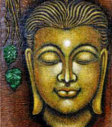 Religious Oil Art Painting title Buddha by artist Ramesh Patel
