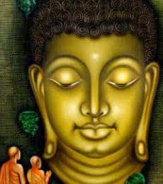 Ramesh | Oil Painting title Lord buddha painting on Canvas Board | Artist Ramesh Gallery | ArtZolo.com