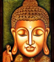 Figurative Oil Art Painting title Lord buddha Painting Figurative Ind by artist Ramesh