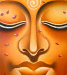 Realistic Oil Art Painting title 'Lord buddha 6 painting' by artist Ramesh