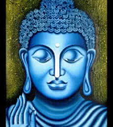 Ramesh | Oil Painting title Lord buddha Painting Figurative Ind on Canvas | Artist Ramesh Gallery | ArtZolo.com