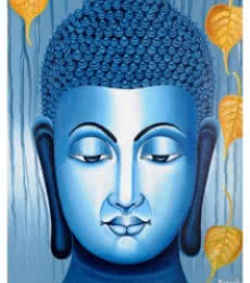 Figurative Acrylic Art Painting title 'Lord buddha Painting Figurative Ind' by artist Ramesh