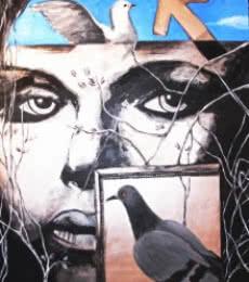 Partho Sengupta | Framed Woman Mixed media by artist Partho Sengupta on Canvas | ArtZolo.com