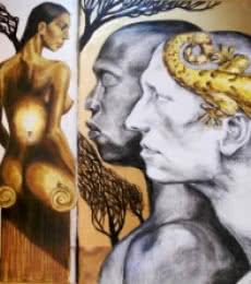 Smitten | Mixed_media by artist Partho Sengupta | PVC