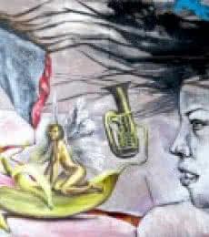Celestial Flesh   Mixed_media by artist Partho Sengupta   Canvas
